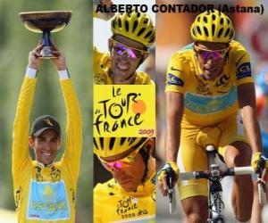 Alberto Contador, winer of the Tour de France 2009 puzzle