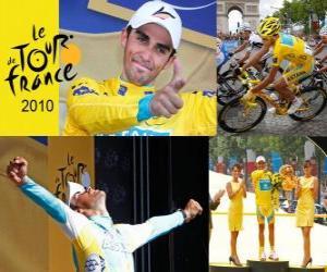 Alberto Contador, winner of the Tour de France 2010 puzzle