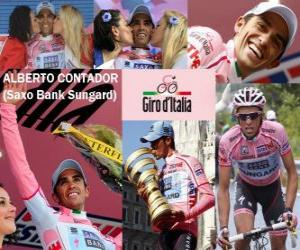 Alberto Contador, winner of the Giro Italy 2011 puzzle
