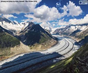 Aletsch Glacier puzzle