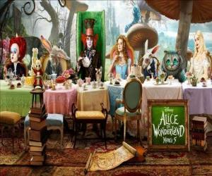 Alice is the guest of honor at the Mad Tea Party puzzle