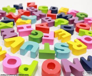Alphabet in spiral puzzle