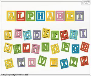 Alphabet of colours puzzle