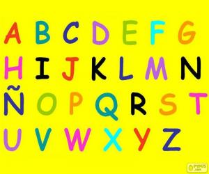 Alphabet with capital letters puzzle