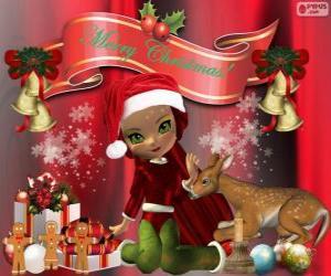 An Elf congratulating Christmas puzzle