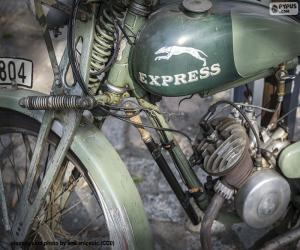 An old motorcycle puzzle