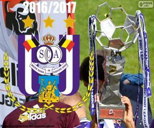 Anderlecht, champion 2016-2017 puzzle