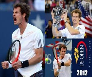 Andy Murray 2012 US Open Champion puzzle