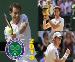 Andy Murray champion Wimbledon 2013 puzzle