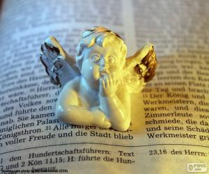 Angel and Bible puzzle
