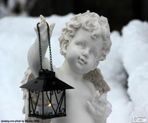 Angel with lantern puzzle