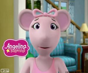 Angelina Ballerina's face puzzle