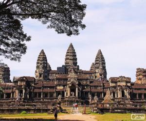 Angkor Wat temple, Cambodia puzzle