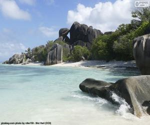 Anse Source D'Argent, Seychelles puzzle