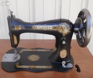 Antique sewing machine puzzle