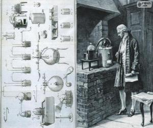 Antoine Lavoisier (1743-1794), French chemist, considered the creator of modern chemistry puzzle