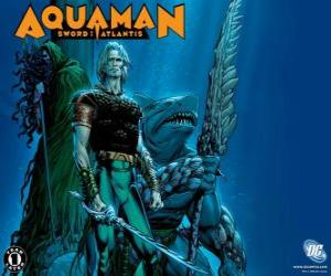 Aquaman was one of the founding members of the team Justice League of America or JLA puzzle
