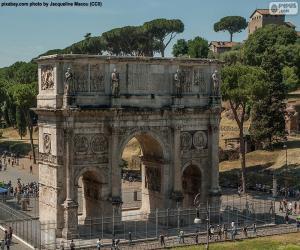 Arch of Constantine, Rome puzzle