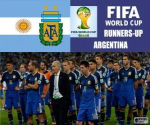 Argentina 2nd classified of the Brazil 2014 Football World Cup puzzle