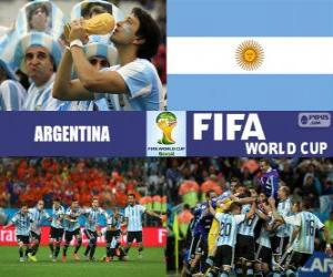 Argentina celebrates its classification, Brazil 2014 puzzle