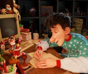 Arthur Christmas, responsible for answering letters from all the world's children puzzle