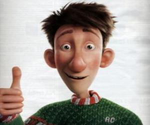 Arthur Christmas, the youngest son of Santa Claus puzzle