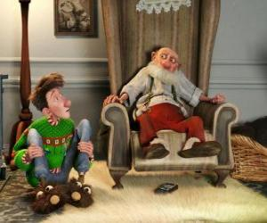 Arthur Christmas with his grandfather puzzle