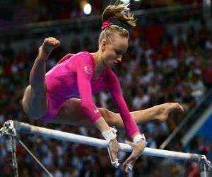 Artistic gymnastics - High bar puzzle