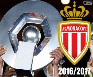 AS Monaco champion 2016-2017 puzzle