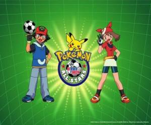 Ash, May and Pokemon puzzle