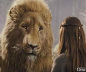 Aslan talking to Lucy puzzle