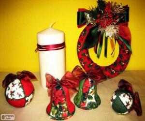Assorted Christmas ornaments puzzle