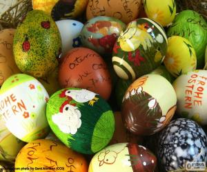 Assorted Easter eggs puzzle