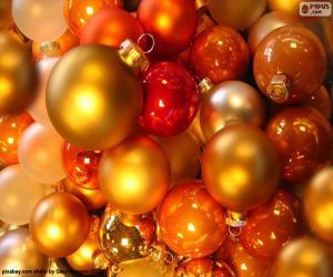 Assortment of Christmas balls puzzle