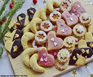 Assortment of Christmas cookies puzzle