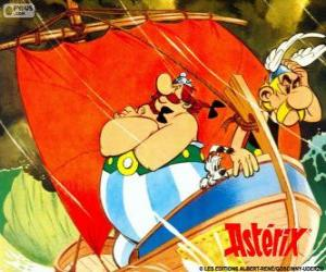 Asterix and Obelix, two friends are the protagonists of the adventures of Asterix the Gaul puzzle