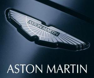 Aston Martin logo, British car manufacturer puzzle