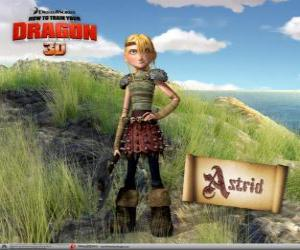 Astrid Hofferson, a young female viking surprising, energetic and competitive puzzle