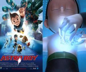 AstroBoy or Astro Boy, a super-robot created by Dr. Tenma in the image of his dead son Toby and his memories puzzle