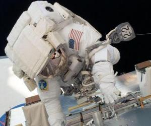 Astronaut in space puzzle