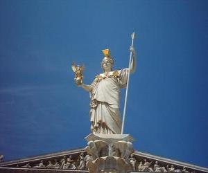 Athena, in greek mythology the goddess of strategic warfare, wisdom and heroic endeavour puzzle