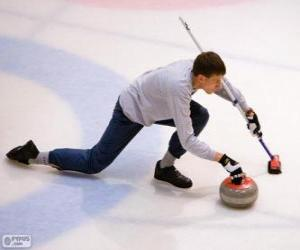 Athlete curling puzzle