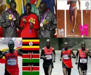 Athletics men's marathon London 2012 puzzle