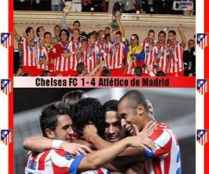 Atlético de Madrid champion 2012 UEFA Super Cup puzzle
