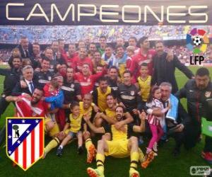 Atlético Madrid, champion of the spanish football league 2013-2014 puzzle