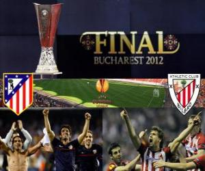 Atlético Madrid vs Athletic Bilbao. Europe League 2011-2012 Final at the National Stadium in Bucharest, Romania puzzle