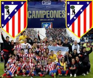 Atletico Madrid champion Copa del Rey 2012-2013 puzzle