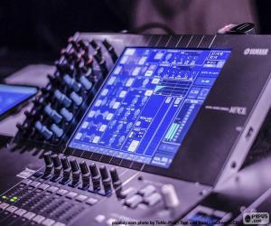 Audio mixer console  puzzle