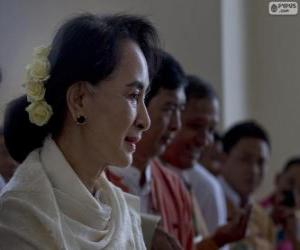 Aung San Suu Kyi political and activist Burmese puzzle