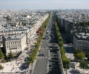 Avenue des Champs-Élysée, Paris puzzle